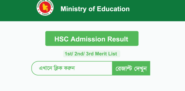 HSC (XI) Class Admission 1st Merit List Result 2020
