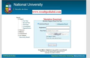 NU Degree 1st Year Result (Session 2018-2019)
