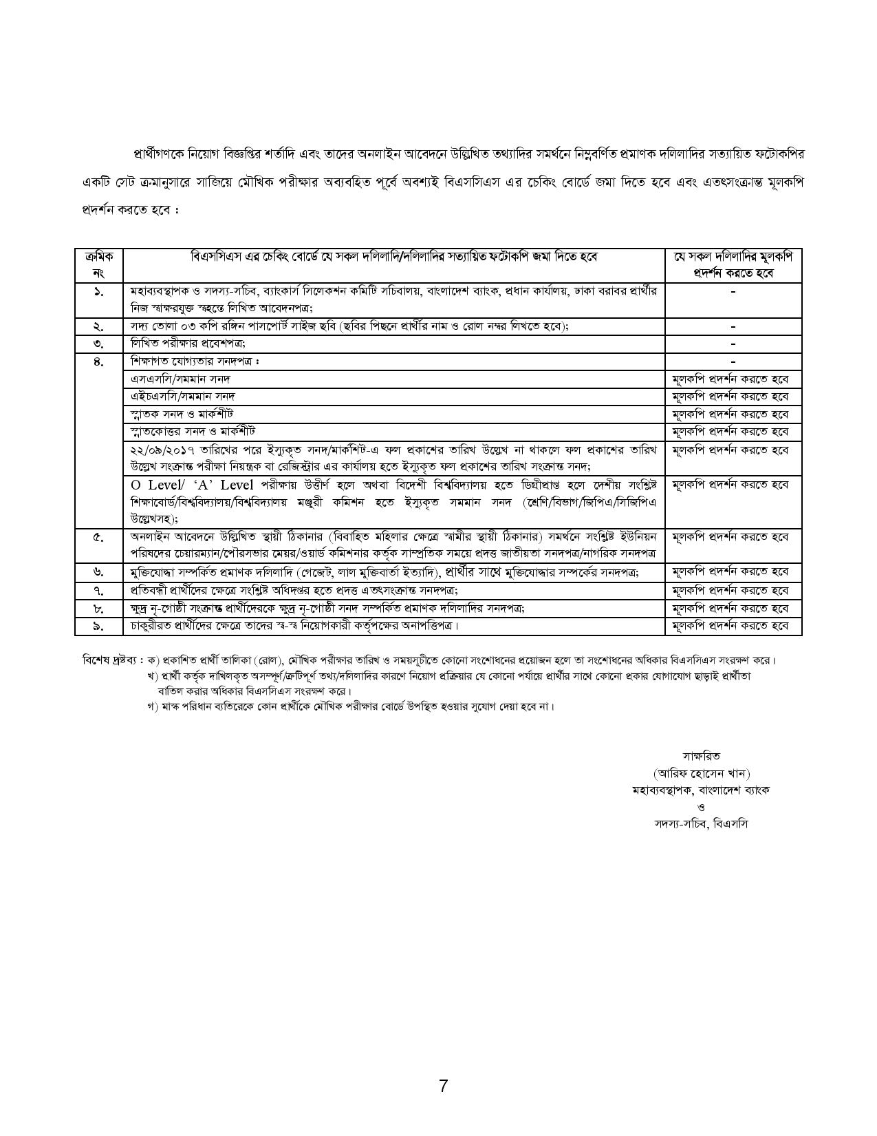 Combined 2 Bank Exam result Viva date and Seat plan 2020